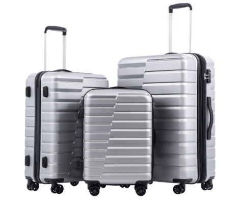 """Coolife Luggage Expandable(Only 28"""") Suitcase 3 Piece Set"""