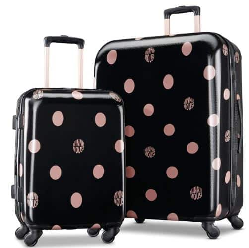 AMERICAN TOURISTER Disney Hardside Luggage, Minnie Lux Dot, 2 Piece Set