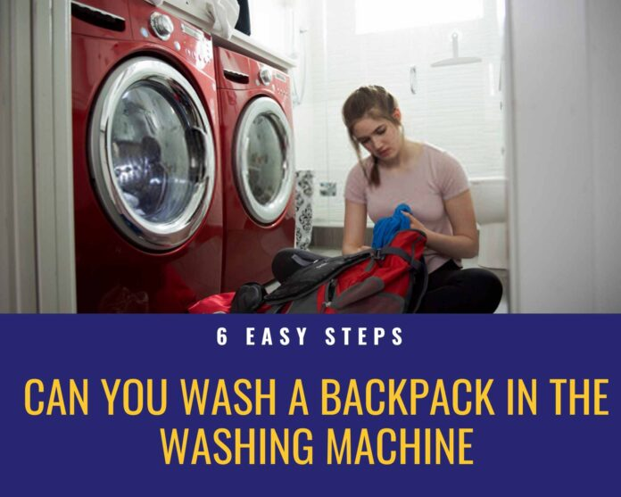 Can You Wash A Backpack In The Washing Machine