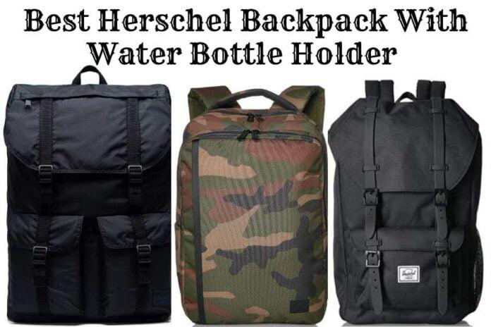 Herschel backpack with water bottle holder