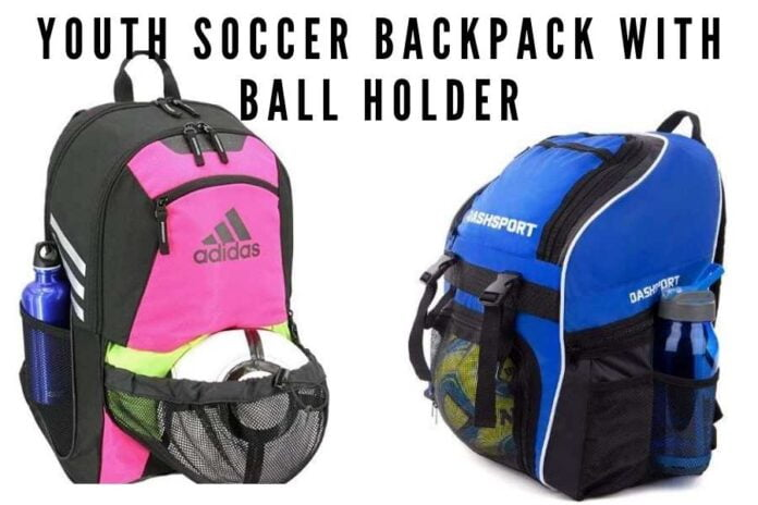 Youth Soccer Backpack With Ball Holder