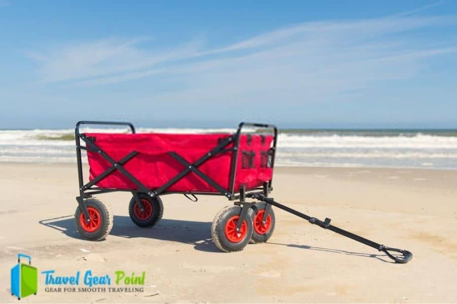 creative outdoor all terrain folding wagon